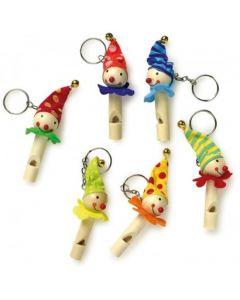 Sleutelhanger en fluitjes - Clowns