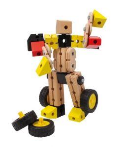 Small Foot Houten Constructieset Robocar Blank 17x8x25 Cm