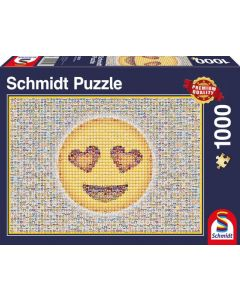 Emoticon, square, 1000 pcs Legpuzzel