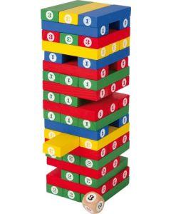 Houten nummer toren