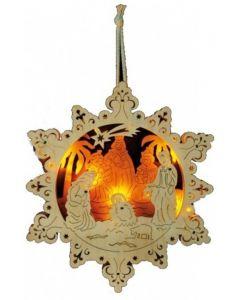 Small Foot Kerstdecoratie Sterrenkribbe 10 Lampjes 32 X 2.5 Cm