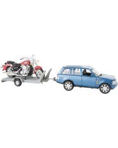 Small Foot Modelauto Met Motoraanhanger