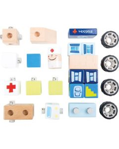 Small Foot Houten Ambulance Set 10 X 6 X 8 Cm