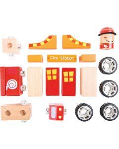 Small Foot Houten Brandweer Set 9,5 X 6 X 7,5 cm